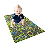 Wawer Baby Weiches Crawl Teppich, Kinder pädagogische Straßenverkehr Teppichmatte Stadtleben Spielmatte Teppich Pad-Matte Krabbeln Decke Teppich Babyzimmer Dekoration