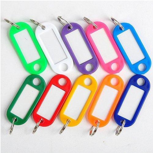 EOYHDSIA - Lot de 30étiquettes en plastique avec carton d'inscription à placer sur les bagages ou porte-clés