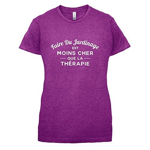 Faire du jardinage est moins cher que la thérapie - Femme T-Shirt - 14 couleur Rose Antique
