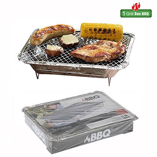51lzhn7K7rL - BBQ Grillgeräte -Bar-Be-Quick Instant-Holzkohle-Grill - Schnell Instant Grill barbecue - Garantie: Heiße Fleisch (35x23,5 h 2,5 cm)