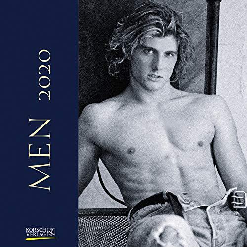 Men 2020: Broschürenkalender mit Ferienterminen. Erotik-Kalender in schwarz weiß. 30 x 30 cm