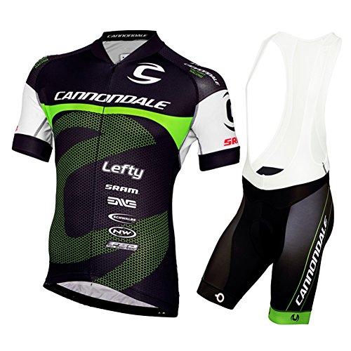 Strgao 2016 Herren Pro Rennen Team Cannondale MTB Radbekleidung Radtrikot Kurzarm und Tr?gerhose Anzug Bib shorts suit (Cannondale Herren Fahrrad)