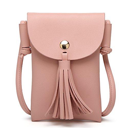 Mefly Spalla Fashion Mini Borsa Sacchetta Verde Pink