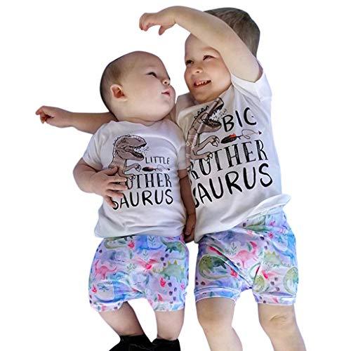 Innerternet-Traje de niño,(1-5 años de Edad) Moda Infantil de Verano Cuello Redondo...