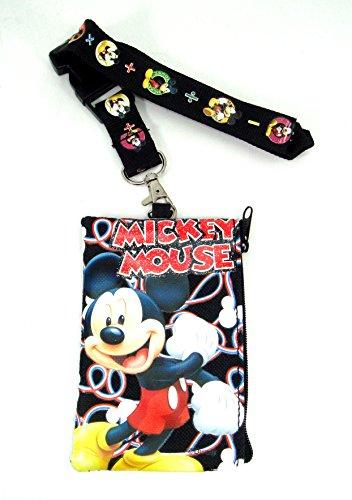 Mickey Mouse Lanyard mit Geldb?rse Schwarz