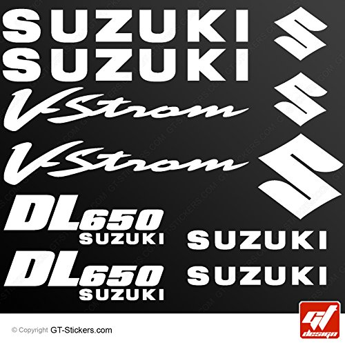 Stickers Suzuki DL650V-STROM–blanco–dl-650VSTROM, DL 650, V Strom, adhesivos, adhesivos, pegatinas, GT-DESIGN