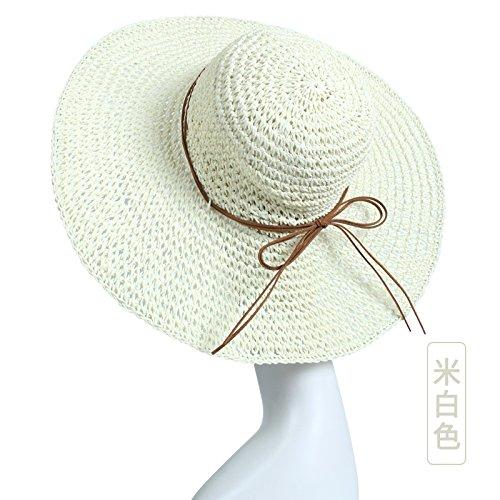 LLZTYM Seashore/Suncap/Summer/Straw Hat/Sunscreen/Sun Cap/Fisherman Hat/Trip/Hat/Woman/Foldable/Headwear/Gift/Hat white