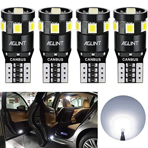 AGLINT T10 CANBUS LED Lampadine W5W 194 168 2825 Cuneo Tipo Luci Dell'automobile Bulb 2835 9SMD La Luce Interna Dell'auto Targa Lampade Luci Posizione Bianca 4PCS