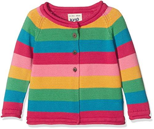 Kite Baby-Mädchen Strickjacke Rainbow Cardi, Mehrfarbig, 6-12 Monate (Pullover Multi-striped)
