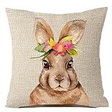 Jaminy Bunny Home Dekorkissen Abdeckung Kaninchen werfen Kissenbezüge Polsterbezüge 45x45cm