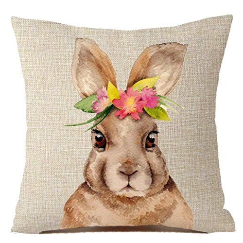 Grau Euro Kissenbezüge (Jaminy Bunny Home Dekorkissen Abdeckung Kaninchen werfen Kissenbezüge Polsterbezüge 45x45cm)