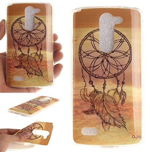Qiaogle Teléfono Caso - Funda de TPU silicona Carcasa Case Cover para LG L Bello D331 D335 D337 (5.0 Pulgadas) - TX13 / Sunset Dream Catcher