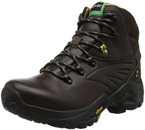 Hi-Tec V-Lite Flash Hike I Waterproof - Scarpe da Arrampicata Alta Uomo, Marrone (Chocolate/Core Gold 041), 43 EU