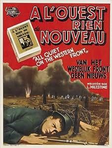 All Quiet on the Western Front Affiche du film Poster Movie Toute tranquillité sur la contenance ouest (27 x 40 In - 69cm x 102cm) Belgian Style A