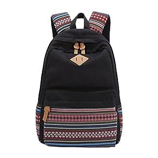 Evay Unisex lona ocasional mochila Vintage para niñas y niños mochila