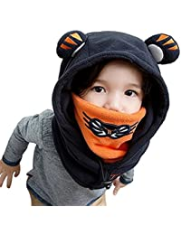 Winter Kids Child Cartoon Winter Thick Warm Animal Hooded Face Ski Hats