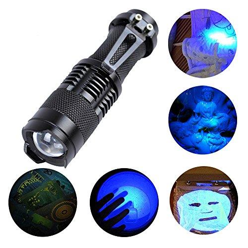 Ulanda UV Schwarzlicht Taschenlampe, Haustiere Urin-Detektor für eingetrocknete Flecken Ihrer Hunde, Katzen und Nagetiere auf Teppichen, Vorhänge, Gardinen Wellenlänge 395nm (Uv-lampe, Wellenlänge)
