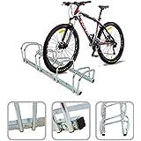 Soporte para 4 bicicletas – Mural de acero galvanizado que permite ajustar la bicicleta al suelo