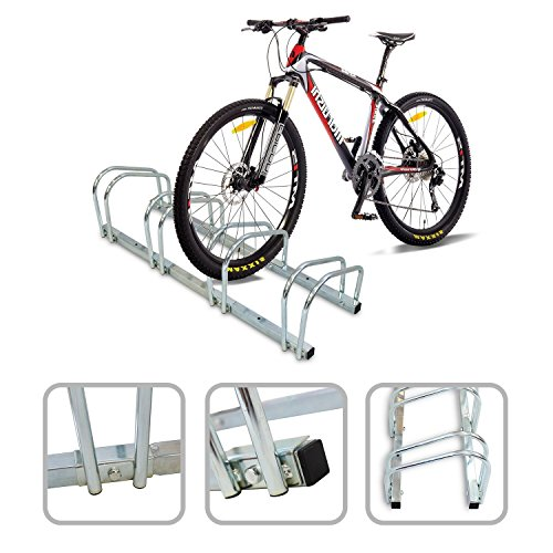Râtelier familial pour 4 vélos - Accroche vélo au sol ou mural en acier galvanisé