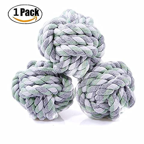Chickwin Dog Chew Toy, Attractive Knots Rope Dogs Teeth Cleaning Cotton Rope Dog Toy Made Cotton Interactive Pet Training Toy 1PC (B)