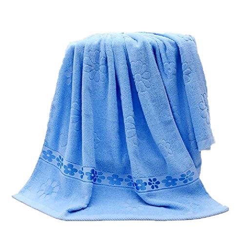 DUNDUNGUOJI Bath Towel Baumwolle, Handtuch, Pflaumensaft, Wassertuch. 70 * 140cm/Blau. -