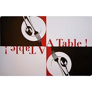DecorLine Set de Table Motif A Table Polypropylène Transparent 44 x 28 cm
