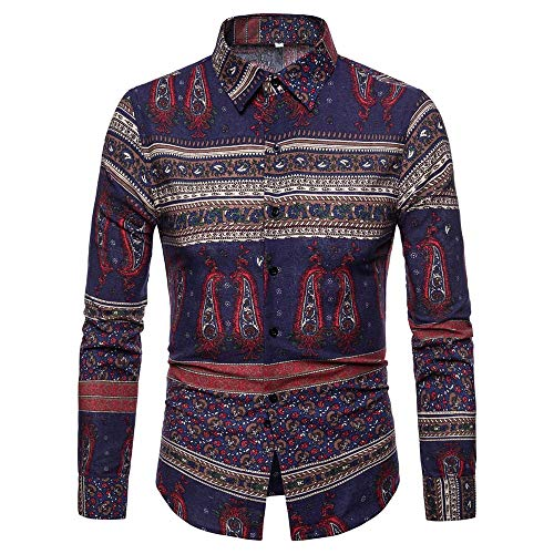 VECDY Herren Pullover, Räumungsverkauf Herbst Winter Langärmliges Patchwork Fastener Sweatshirts Tops Bluse V-Ausschnitt Sweatshirt ()