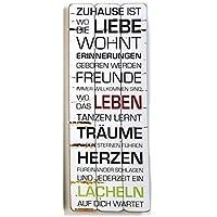 Tamia-Home Wanddeko Wandbild Holzbilder Regeln 30 * 80cm (Zuhause 30451)