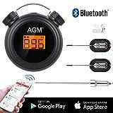 AGM Thermomètre à Viande, Thermomètre de Cuisson Bluetooth Professionnel sans Fil...