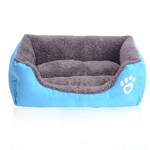 Cuccia divano letto lettino cuscino per cani cane pet animali (azzurro s)