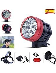 GHB Eclairage VTT Avant Lampe VTT LED Lampe Vélo Phare Vélo Puissante Rechargeable Etanche