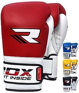 RDX Elite Gants de boxe d'entraînement perforation Sparring Gants de cuir de vache kickboxing Muay Thai Combat Gants de sac