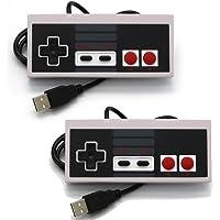 Link-e : lot de 2 manettes Nintendo NES à branchement USB pour PC/MAC