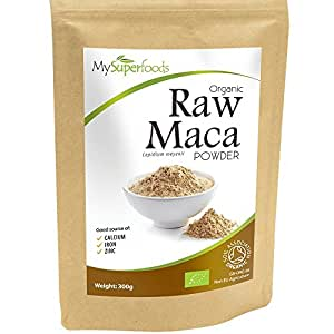 Organic Maca Powder (300 grams) | MySuperFoods | Packed with Healthy Nutrients | Ancient Health Food from Peru | Delicious Malty Flavour | Certified Organic