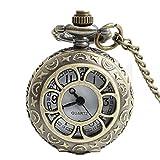Man-hj Vintage Quarz-Taschenuhr mit antiker hohler Taschenuhr aus Bronze Uhren