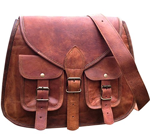 - 51lzwaiqPgL - LARGE SERGUIO ROGETTI HANDMADE DESIGNER REAL LEATHER SATCHEL SADDLE BAG TABLET HAND BAG RETRO RUSTIC VINTAGE
