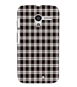 EPICCASE black checks Mobile Back Case Cover For Moto X (Designer Case)