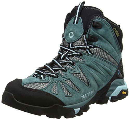 Merrell Damen Capra Mid Gore-tex Trekking-& Wanderhalbschuhe, Grün (Sea Pine), 38.5 EU Merrell Snow Boots