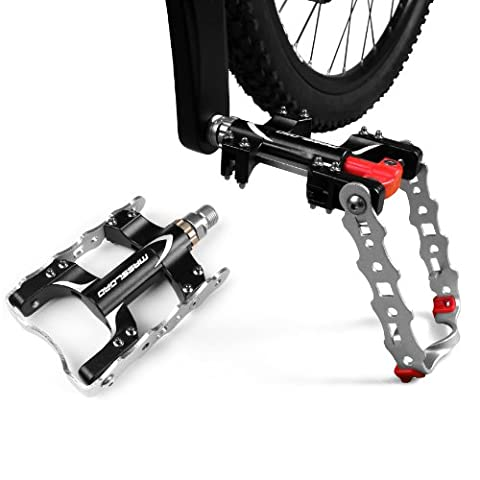 BV Fahrrad-Pedale Ständer 2 in 1, Pedale-Seitenständer Kickstand, Pedale Kickstand, Mountain Bike Pedals Road Bicycle Pedals