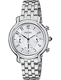 Seiko Damen-Armbanduhr Chronograph Analog Quarz Edelstahl SRW875P1