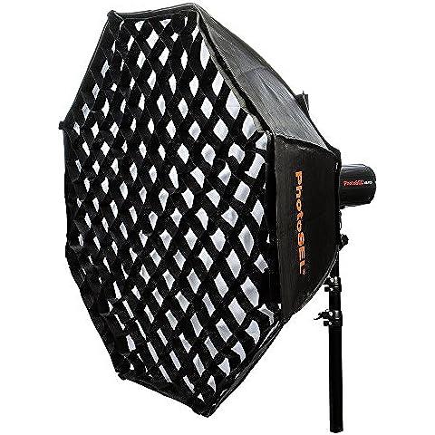 PhotoSEL SBSC95BE - Ventana Difusora de Luz Softbox Octogonal para Iluminación Fotográfica de 95cm con Rejilla de Nido de Abeja, montaje de Tipo S, para flash de estudio PhotoSEL/Bowens
