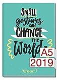 Chäff-Timer Classic A5 Kalender 2019 [Change the world] 12 Monate Jan-Dez 2019 - Terminkalender mit Wochenplaner - Organizer - Wochenkalender