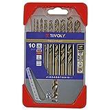 Tivoly 11468570001 Coffret de Forets Metal Cobalt Technic Gradués, Bronze, Set de 10 Pièces