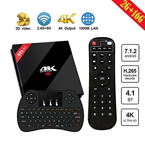 SINUK Android 7.1 .2 TV Box, 2 G+16G Amlogic S912 Octa-Core Cortex A53 2.0GHz 64bits CPU,Support 3D/4K/ 2.4G & 5G Dual Wifi / 1000M LAN