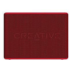 Creative Muvo 2c Water Resistant Bluetooth Speaker for Music Festivals, Concerts, Raves, Dust, and More (Red)