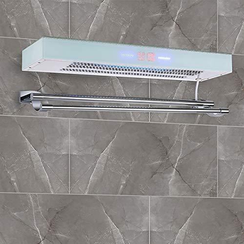 ZUZEN Elektrischer Handtuchhalter Intelligente Temperaturregelung Trocknungssterilisation Edelstahl-Trockenhandtuchhalter Geeignet für Badezimmer im Badezimmer,White