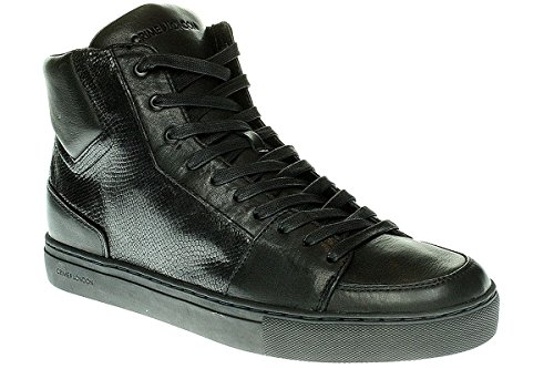 Crime London 11368A16B - Uomo Scarpe Sneaker Lacci - Uomo, Nero, 43