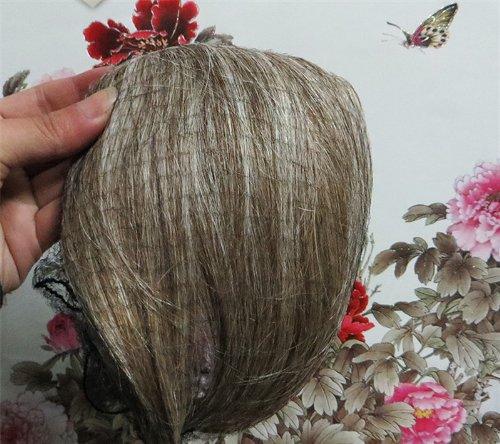 20,3 cm couleur : brun/blond (# 8/613) cheveux humains véritables cheveux Fashion avant Neat Bang franges One cheveux