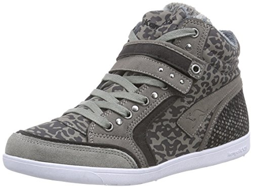 KangaROOS K-Basket 5005C Damen Hohe Sneakers Grau (dk grey/black 235)