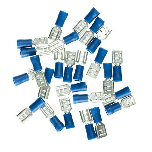Haupa Flachsteckhülse isoliert 1,5-2,5 mm² 6,3 x 0,8 mm, 25 Stück, blau, BLV260394